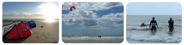 Kitesurfing at Camber Sands